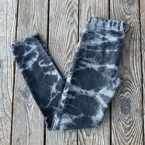 Black and Grey tie dye jeans